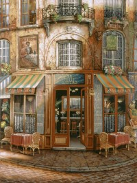 Le Petit Bistro Wall Mural - Traditional - Wall Stickers