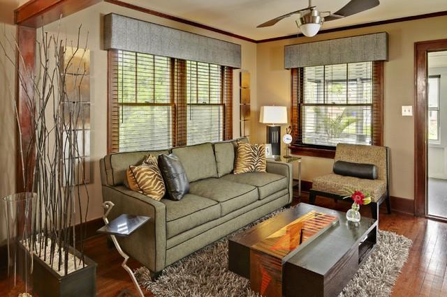 Modern in a classic Bungalow - Modern - Living Room - Cedar Rapids - modern valances for living room