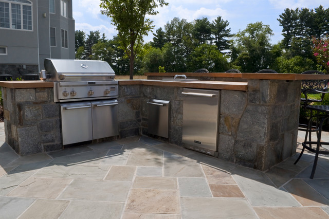 Small Sofas Under $500 Stone Based Outdoor Kitchen With Concrete Countertops