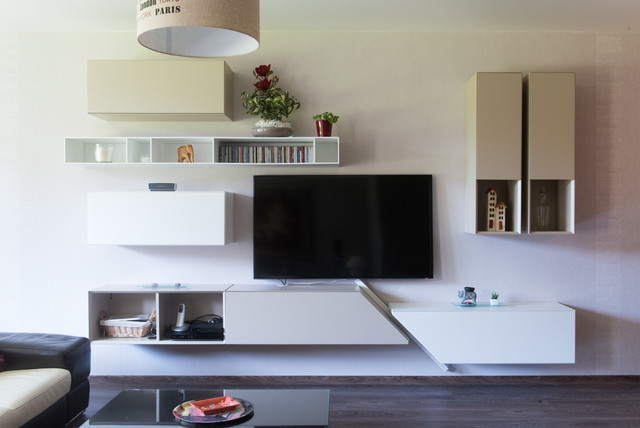 Meuble Living Tv Composition Murale Pour Meuble Tv Design - Modern - Living