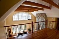 Craftsman loft overlooking family room