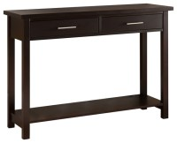 Espresso Sofa Table Espresso Console Tables Target - TheSofa