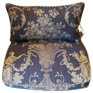 French Country Chair Pads Back Pillows Eclectic