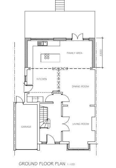 space house extension small eat kitchen option extension
