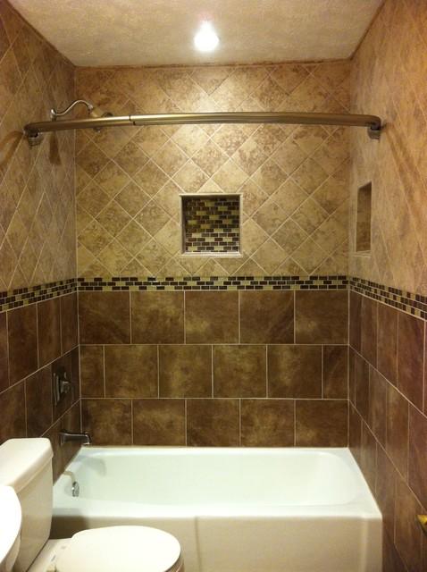 Floor to ceiling Tile bath