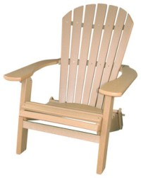 Recycled Adirondack Chair in Tan - Contemporary ...