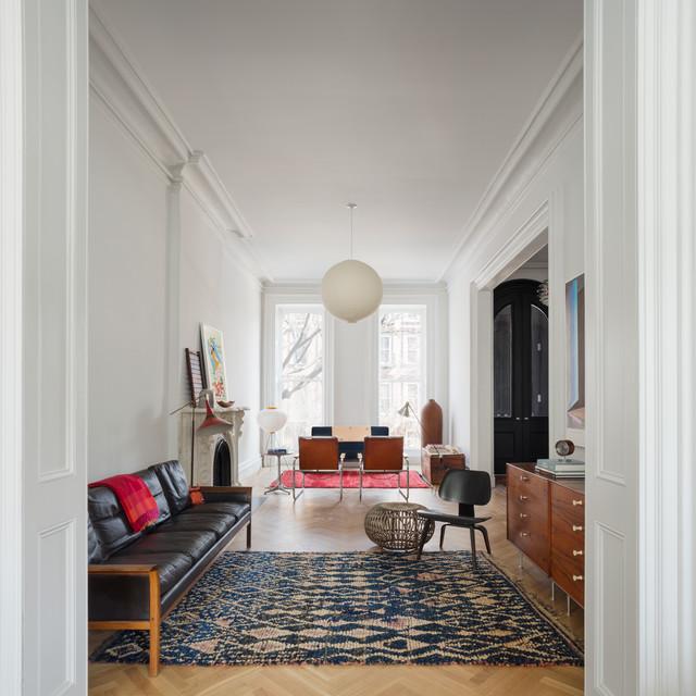 Brooklyn Brownstone - Scandinavian - Living Room - New York - living room furniture nyc