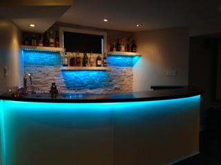 Mississauga Residence Basement Bar