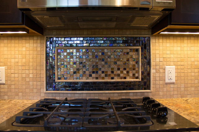 custom glass tile backsplash rustic kitchen rustic kitchen backsplash tile