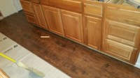 I have Midwood oak colored cabinets with alameda hickory ...