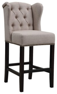 Bedford Wingback Stool - Contemporary - Bar Stools And ...