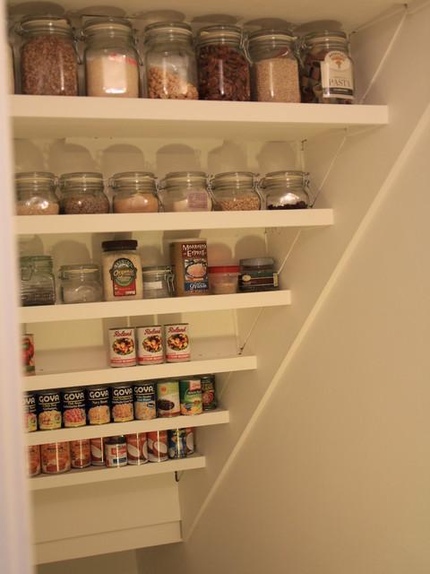 Under-Stair Storage Project - Contemporary - Staircase - under stairs kitchen storage