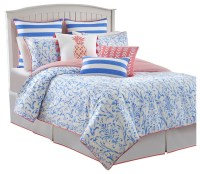Southern Tide Coastal Ikat Queen Cool Water Blue Comforter ...