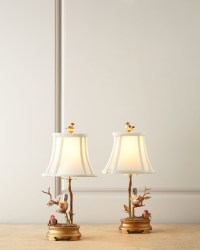 Porcelain Bird Lamps - by Horchow