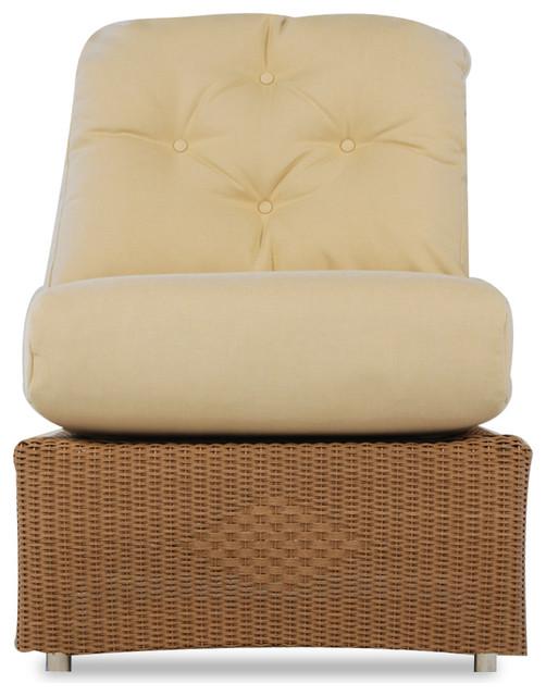 Lloyd Flanders Reflections Slipper Chair - Tropical - Living Room - tropical living room furniture