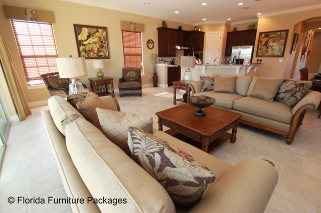 Island Feel - Tropical - Living Room - Orlando - by Florida - living room furniture packages