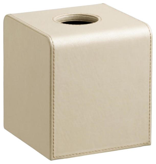 Zapa Beige Boutique Tissue Holder - Transitional - Tissue Box