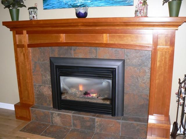 Cherry Shaker Fireplace