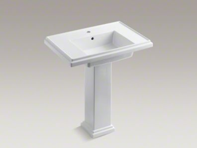 Tresham 30 Inch Pedestal Sink With Single Faucet Hole