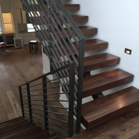 "Black Walnut 4"" Stair Treads - Contemporary - Staircase ..."
