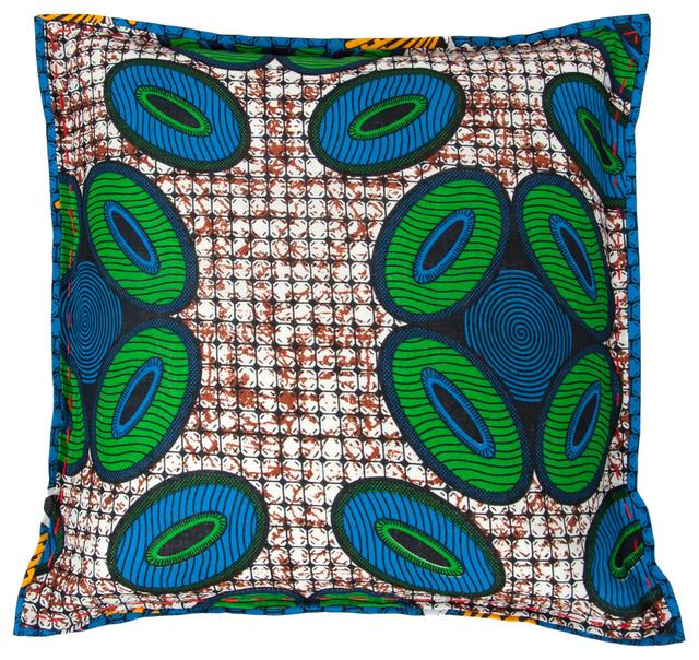 Chitenche Cushion Circles Contemporary Decorative