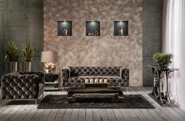 Crandon II Gray Sofa - Contemporary - Living Room - Miami - by El - el dorado living room sets