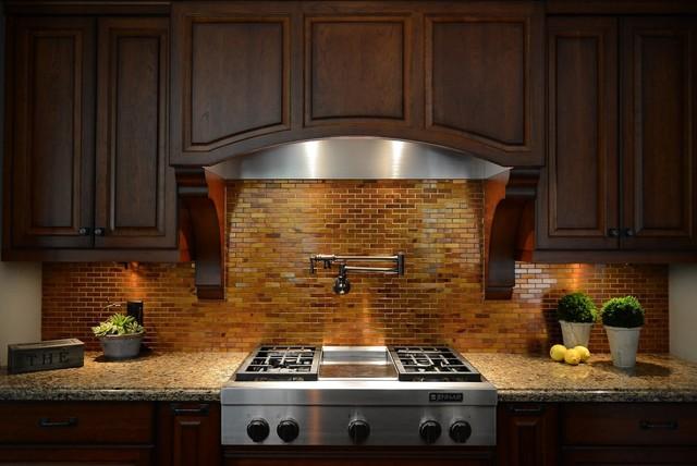 kitchen backsplash copper tiles pot filler traditional kitchen copper backsplash design pictures remodel decor ideas page
