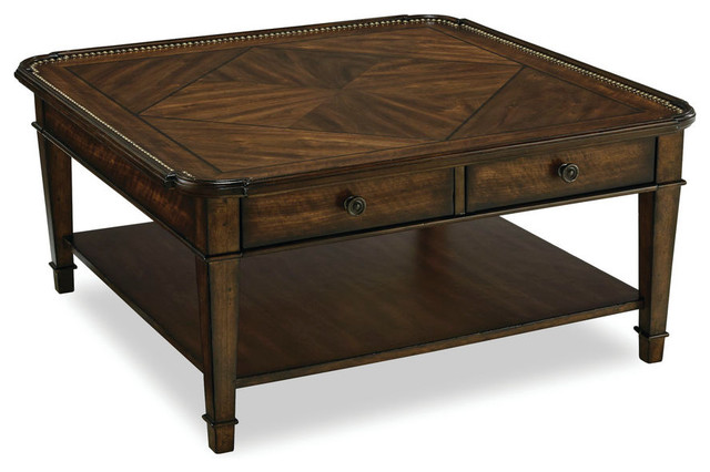 Couchtisch Nussbaum Quadratisch Rustic Walnut Square Cocktail Coffee Table - Traditional