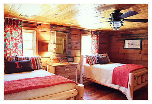 Log Cabin Makeover - Traditional - Bedroom - Nashville - by JD Designs - log home decorating ideas