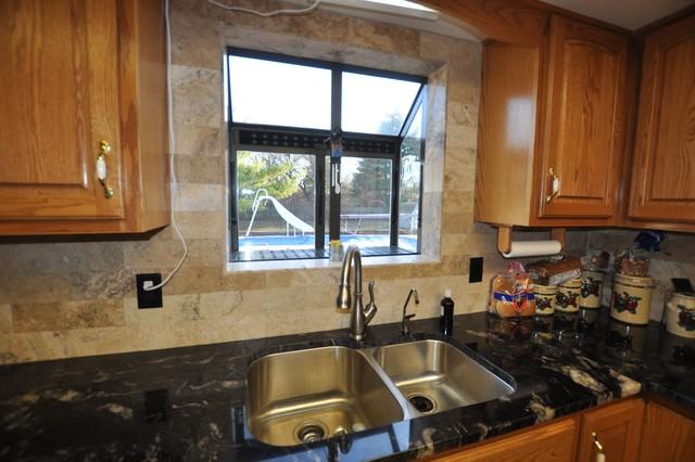 tile backsplash kitchen window granite countertops tile backsplash glass tile backsplash slightly glitzier alternative