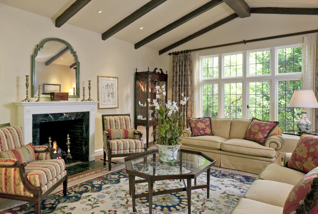 California Tudor Style Residential Remodel - Traditional - Living