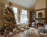 Farmhouse Living Room Christmas Decorating Ideas