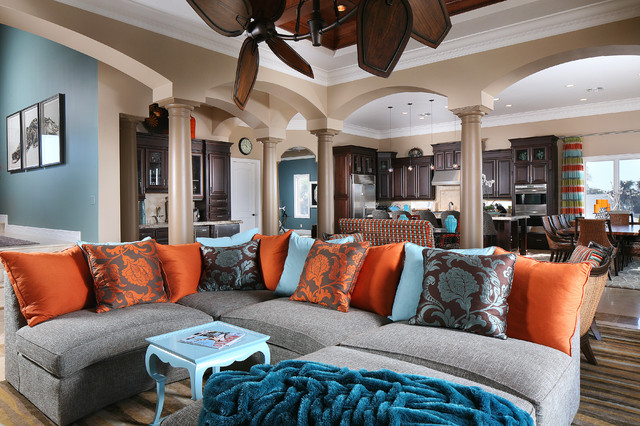 Cozy \ Colorful living room - Tropical - Living Room - St Louis - cozy living room colors