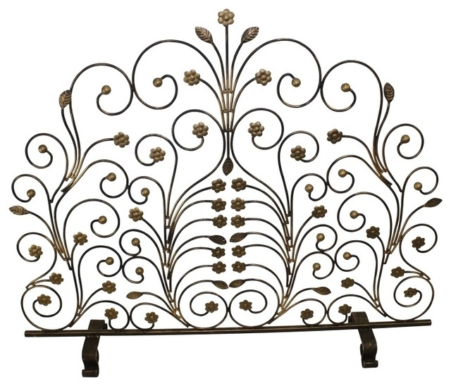 Fire Screen with Leaf and Floret Accents by Dr Livingstone I Presume