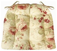 - Chablis Rose Shabby Chic Dining Chair Pads - View in ...