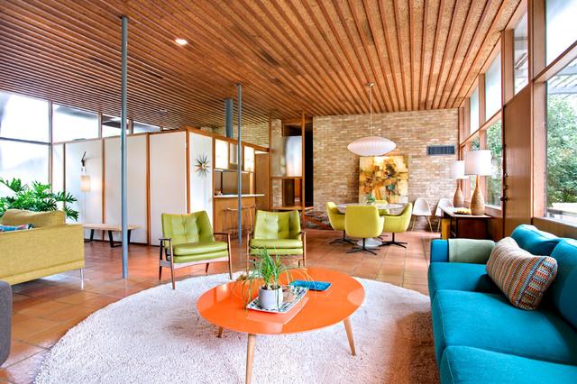 Casa Nido - Midcentury - Family Room - Austin - by Nest Modern - mid century modern living room