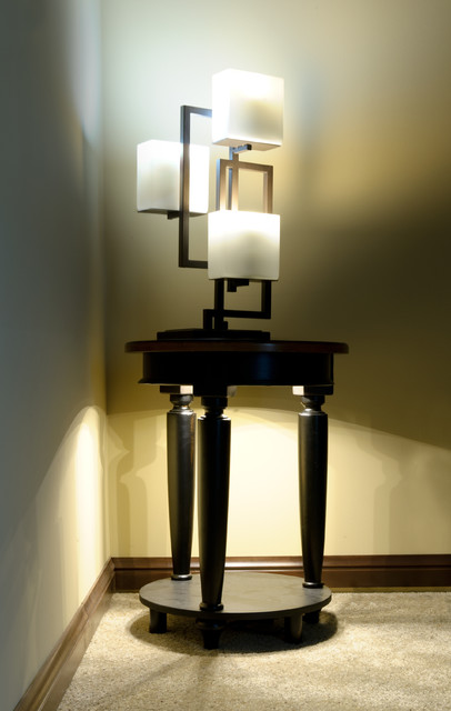 LED Side Table Accent Lighting and Contemporary Lamp - side tables for living rooms