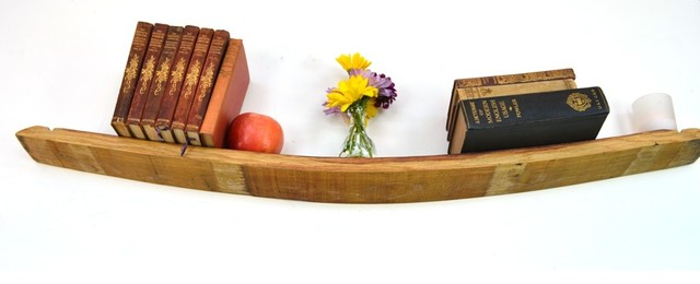 Wine Barrel Floating Shelf