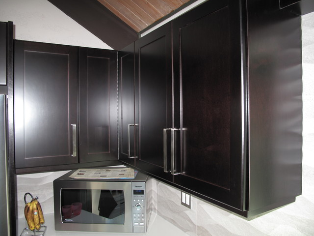 How To Stain Kitchen Cabinets Espresso Cabinet Refacing With Espresso Stain On Maple Veneer