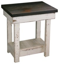 Sookie Distressed End Table, White - Rustic - Side Tables ...