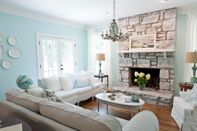 Seaside Style in Brentwood, TN Suburbia - Beach Style - Living - beach style living room