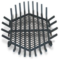 Round Fire Pit Grate, Welded Steel - Contemporary ...