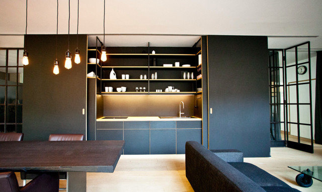 Schrankküche design  Kompaktes Minikueche Design Konzept - Design
