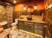 Rustic Ranch Guest Bathroom - Rustic - Bathroom - Other ...