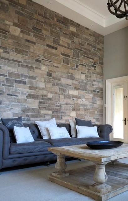 Interior Stone Accent Walls - Contemporary - Living Room - Toronto - accent wall in living room