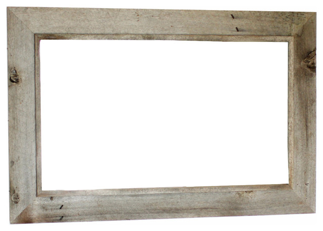 Western Rustic Mirror Reclaimed Barn Wood Frame 18quotx22