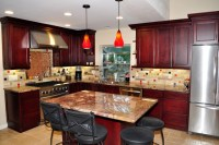 Dynasty Cherry wood Burgundy Onyx - Traditional - Kitchen ...