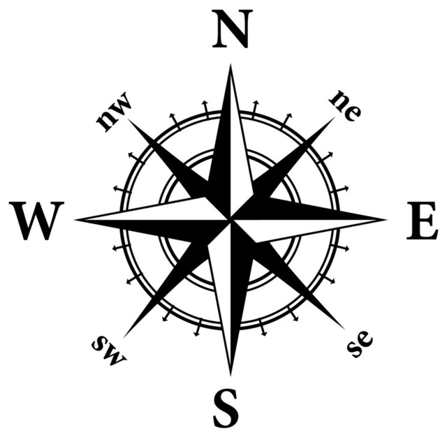 Compass Nautical Design Wall Decal - Contemporary - Wall Decals - by