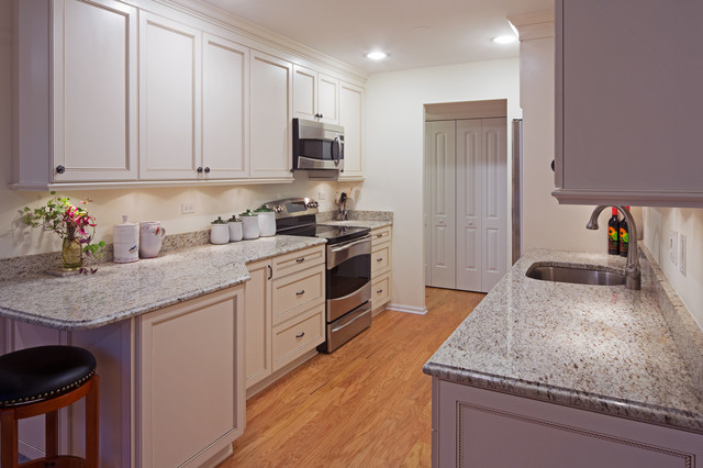 White Galley Kitchen - Traditional - Kitchen - Other - By Dream