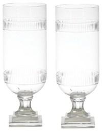 Tiffany Cut Glass Hurricane Lamp Lantern, Set of 2 Candle ...